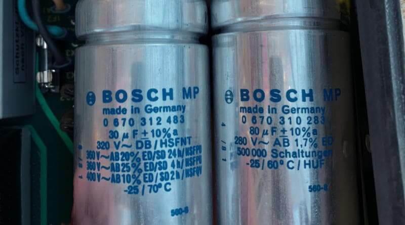 Bosch Betriebskondensator und Anlaufkondensator
