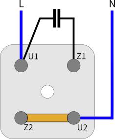 Klemmbrett Wechselstrommotor Linkslauf