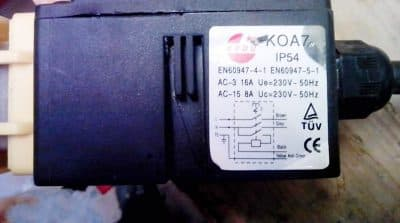Die Schalter vom Typ IP54 oder EN60947